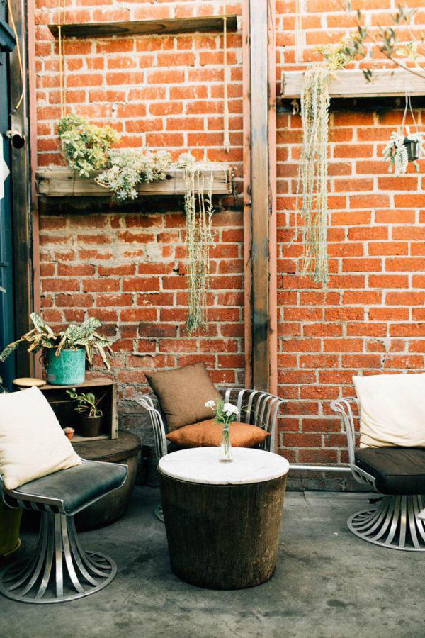 Wedding Lounge Area urban planting