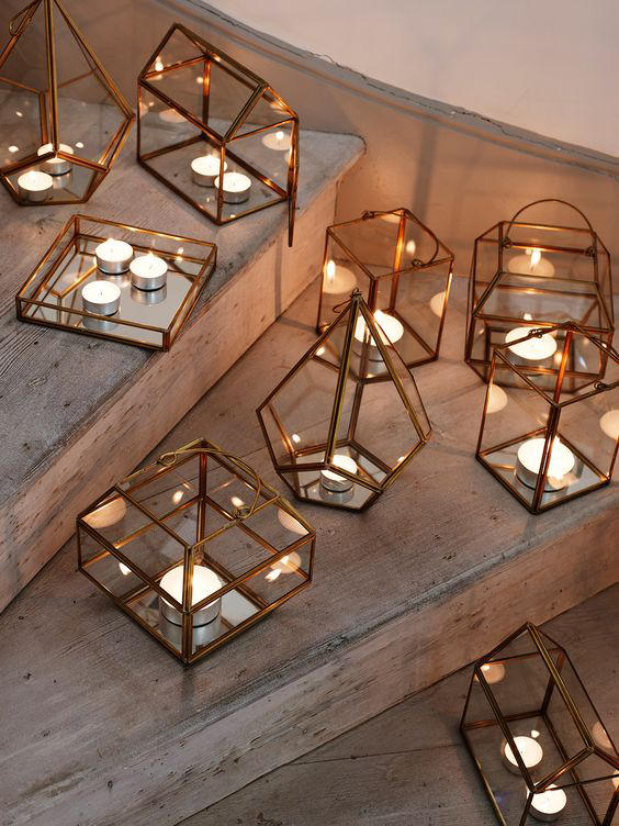 Edgy Lighting Ideas for Your Wedding Copper Lanterns