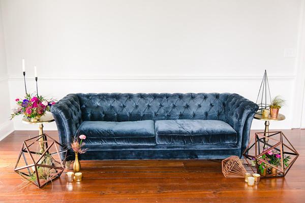 Blue wedding furniture