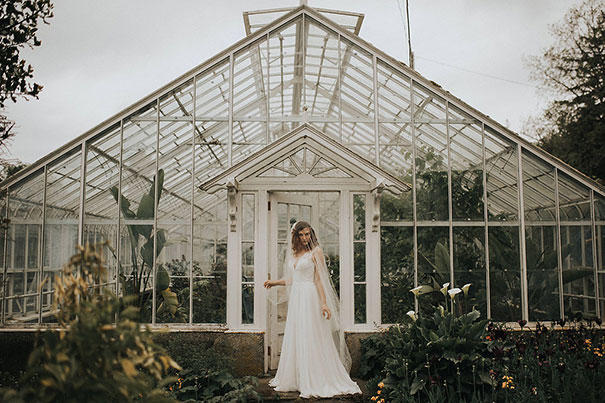 Greenhouse wedding styling