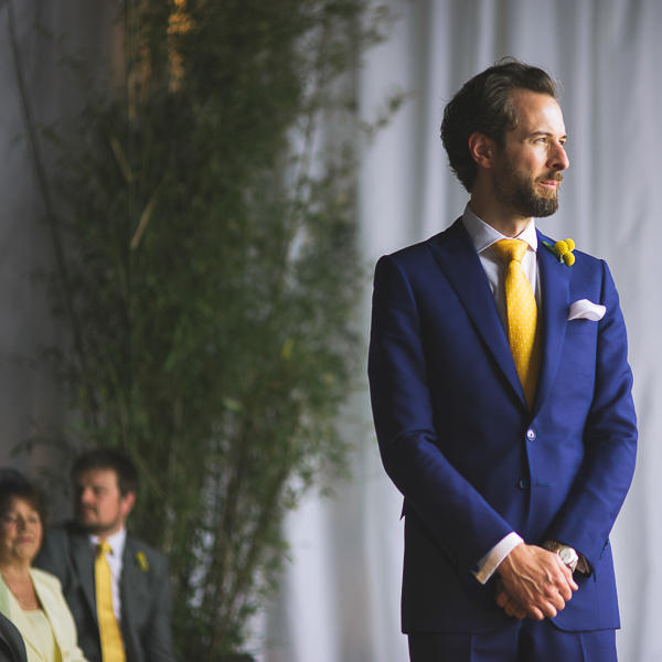 mustard yellow wedding bride groom
