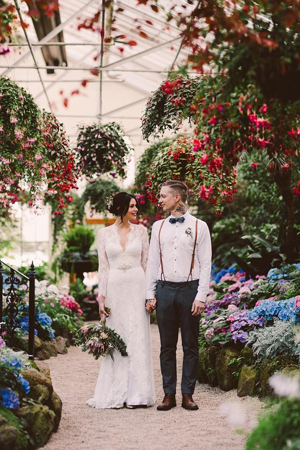 Urban Boho Wedding floral styling