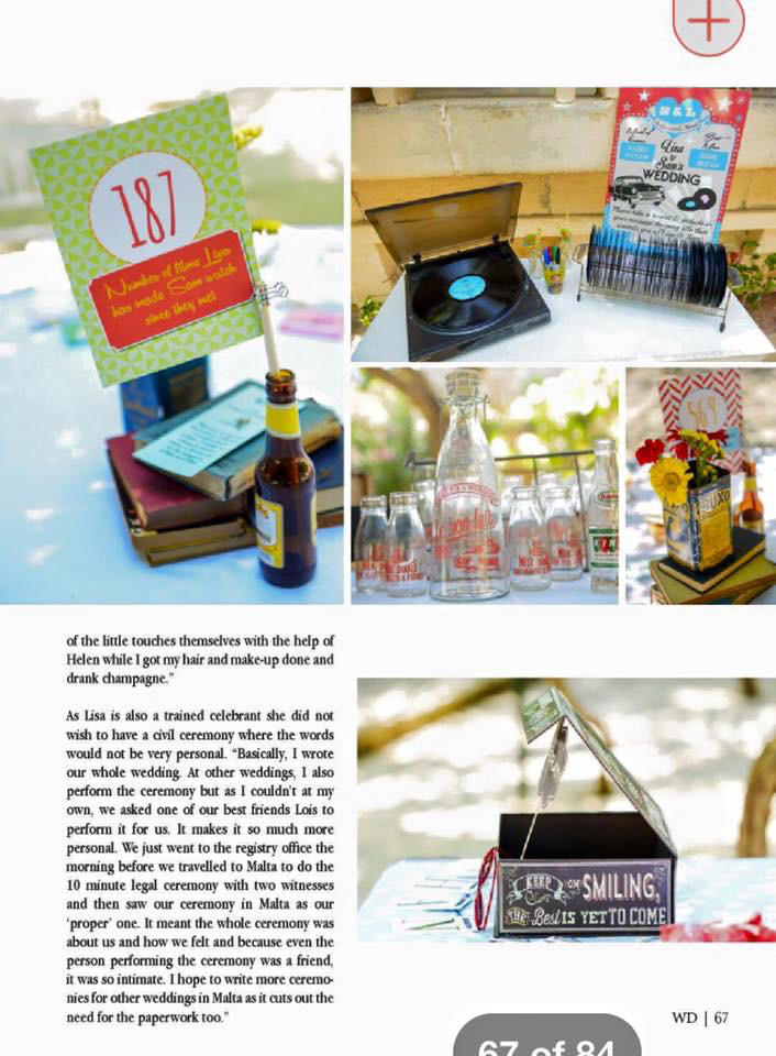 Our very own wedding - the little touches
