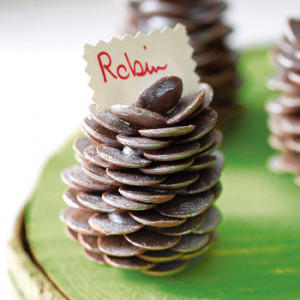Favour - Chocolate Pine Cone Placeholder by Sweet Trees