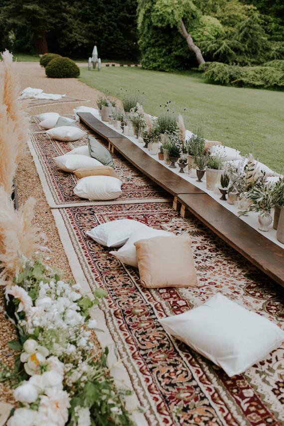 Urban Boho Wedding reception idea