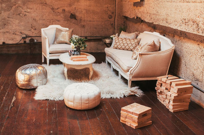 Chill-out wedding lounge area idea