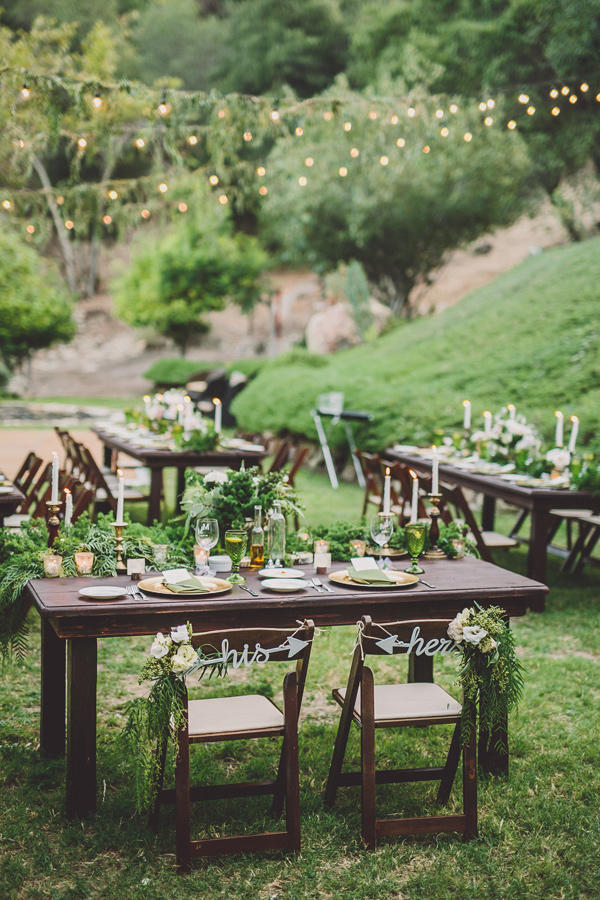 forest green wedding reception al fresco styling