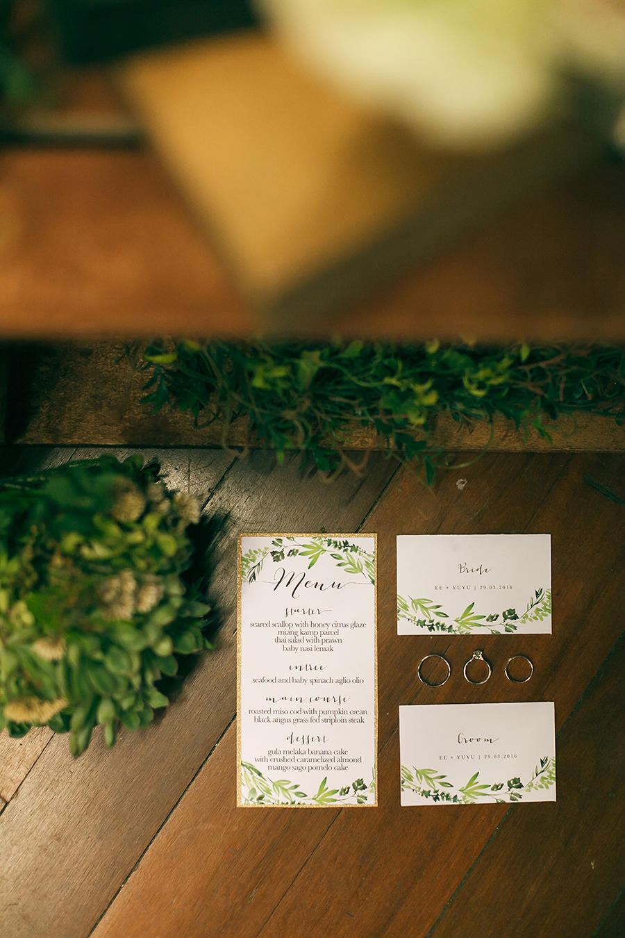 forest green wedding stationery