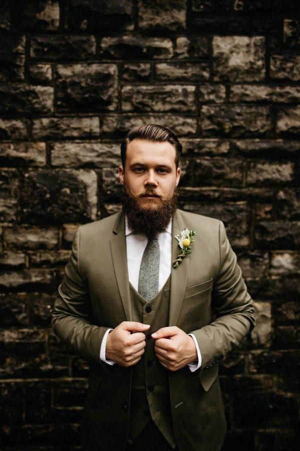 groomsmen trends hipster olive suit