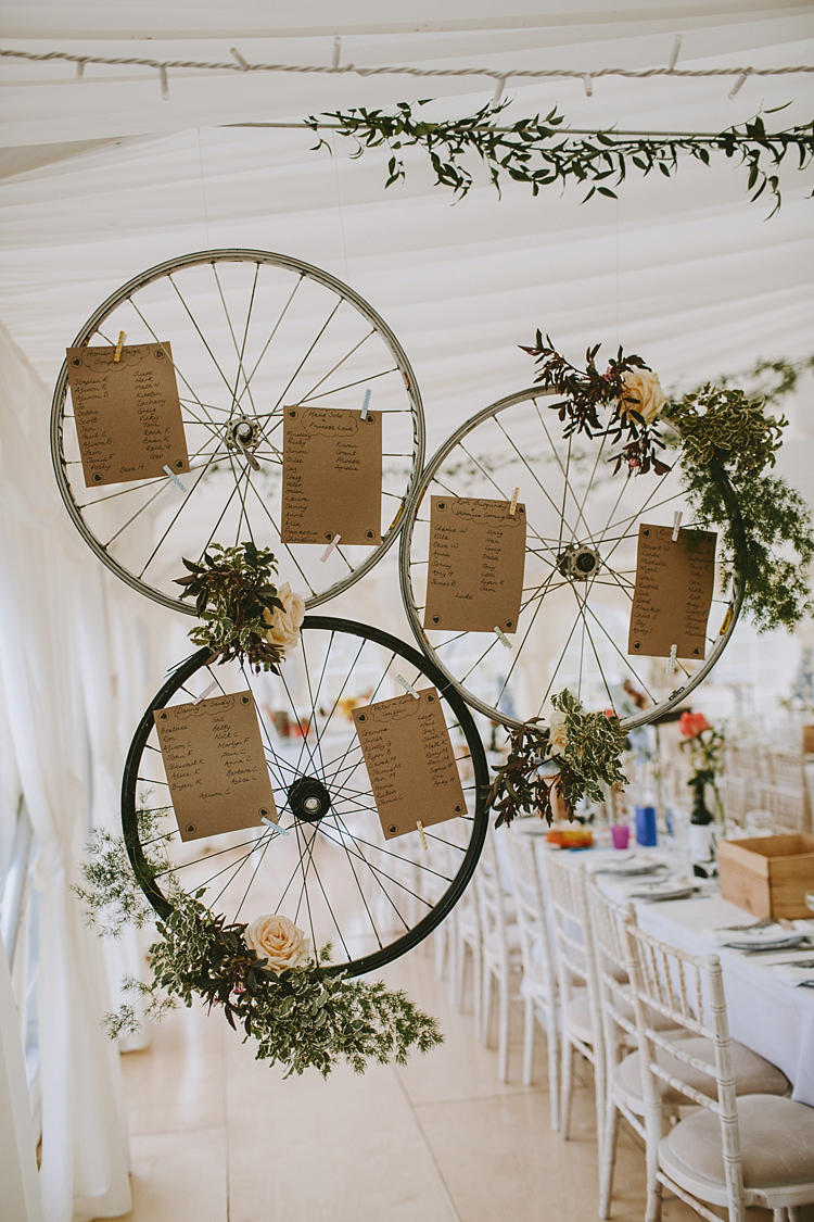 wedding seating plan cycle wheels