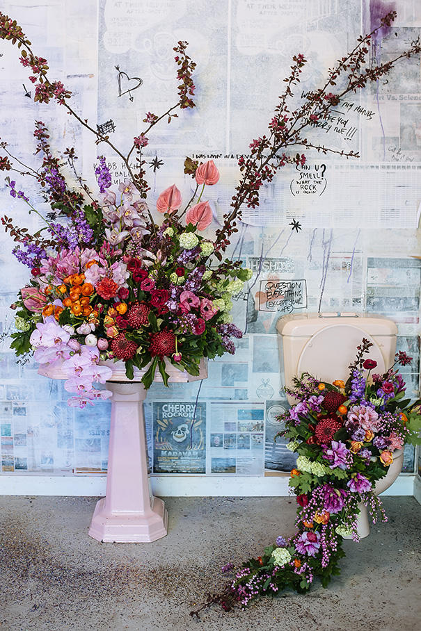 romantic industrial floristry ideas