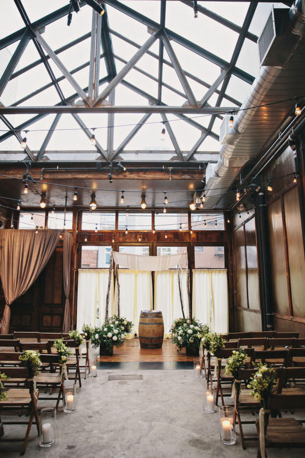 Edgy Lighting Ideas for Your Wedding simple industrial