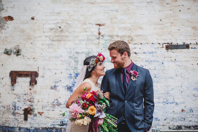 Pop of Colour: Vibrant Warehouse Wedding Theme