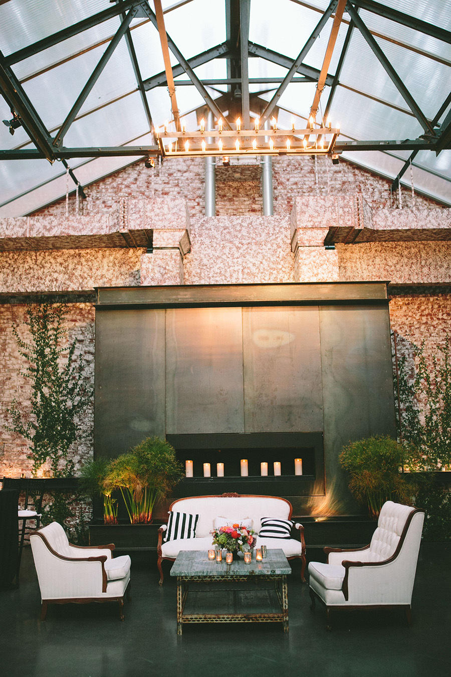 urban luxury wedding lounge area styling