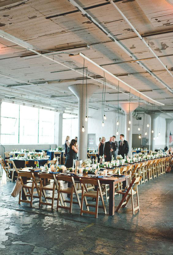 Edgy Lighting Ideas for Your Wedding Long Tables