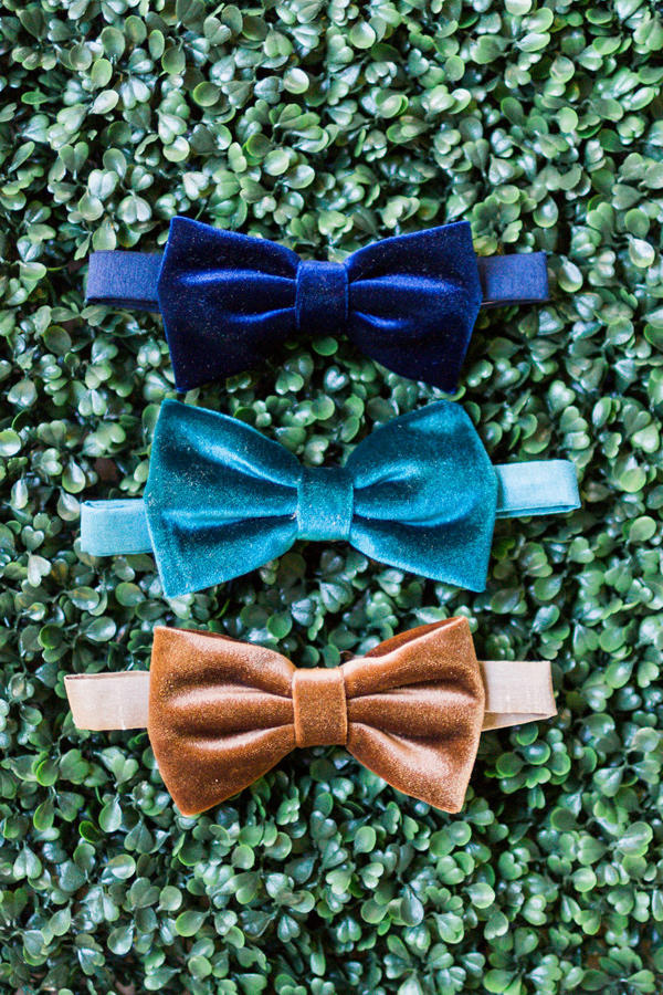 velvet wedding bow ties