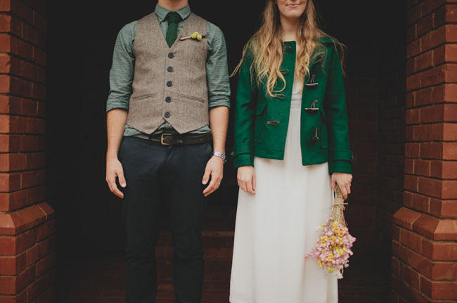 forest green wedding clothes