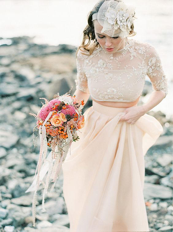 Bridal Separates ivory lace
