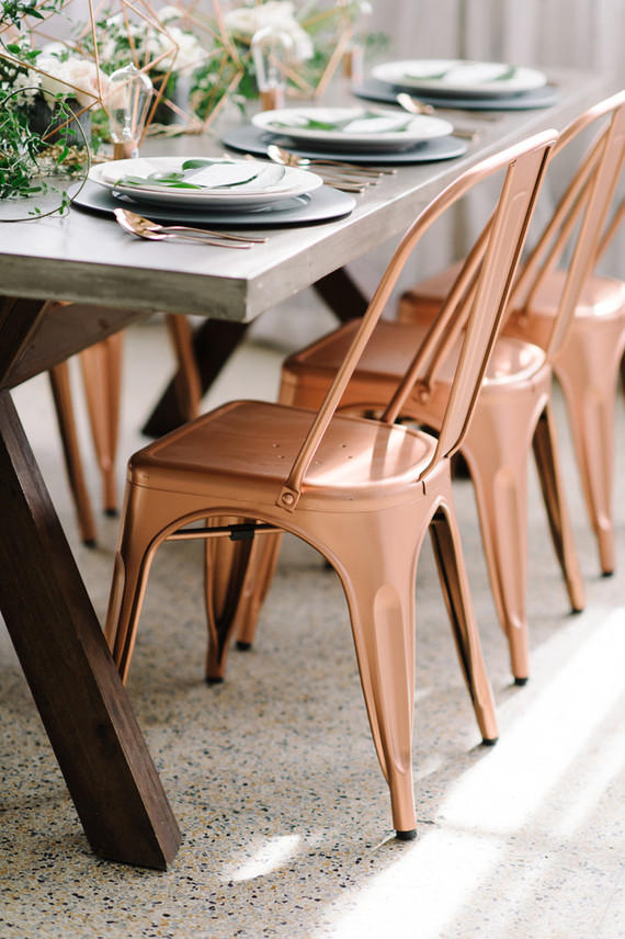 colour schemes copper and grey table seating