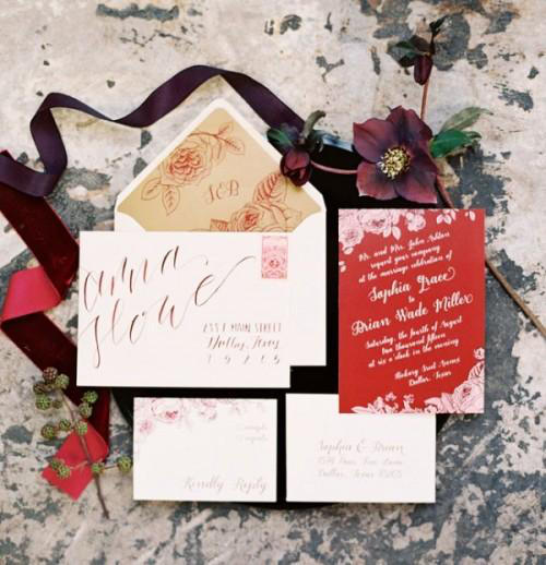 Autumn wedding stationery ideas