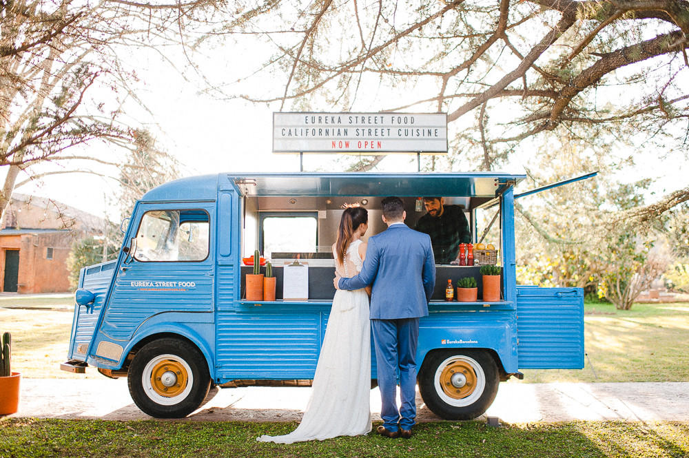 delicious wedding food small food truck