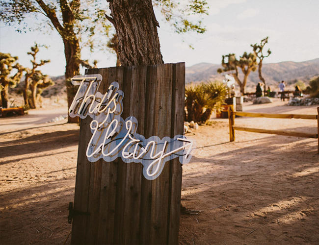 Coachella Festival Wedding neon sign idea