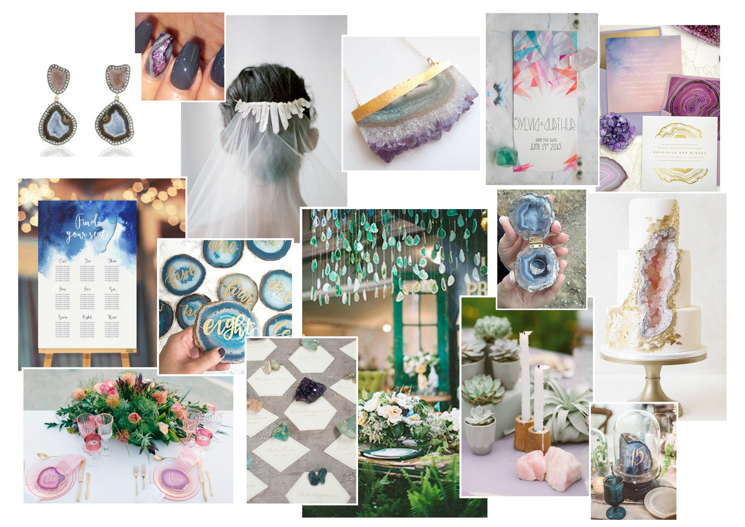 Moodboard of the Month – The Geode Effect