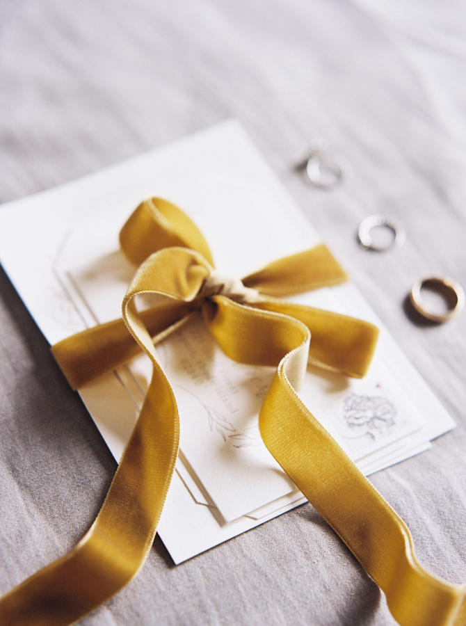 velvet wedding stationery idea