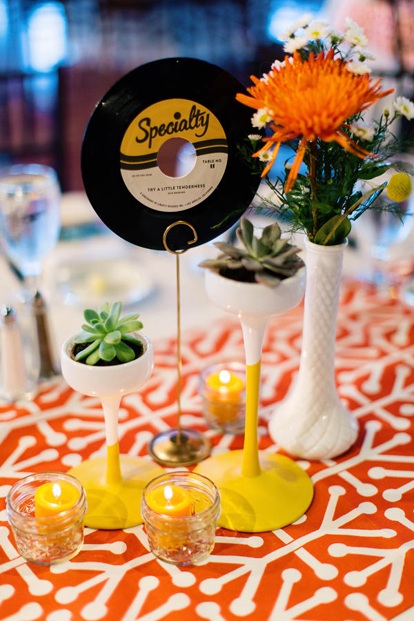 retro urban wedding vinyl idea