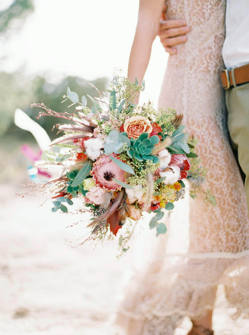 wedding succulents bouquet idea