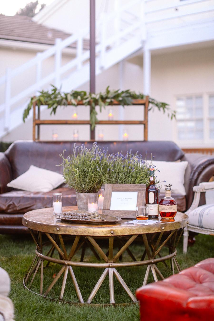 Wedding Lounge Area lavender pots