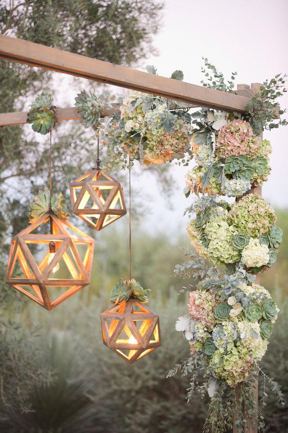 Edgy Lighting Ideas for Your Wedding natural accents