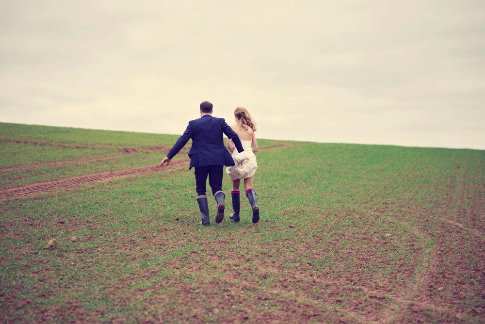 Winter Wedding with Wellies