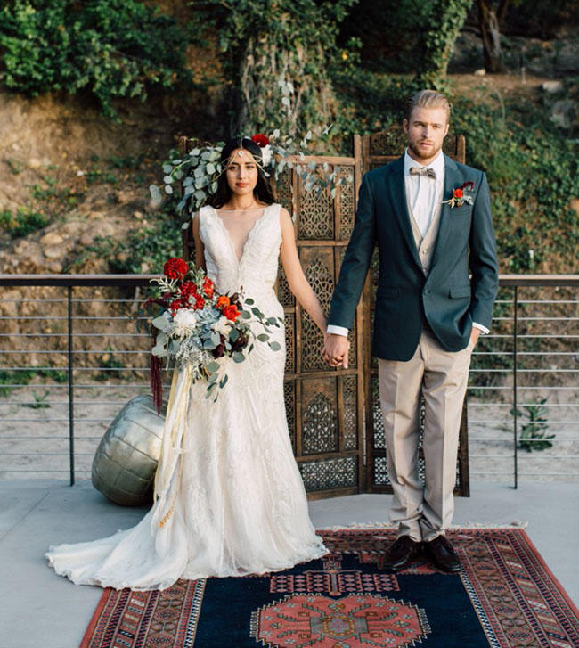 Urban Boho Wedding smart styling