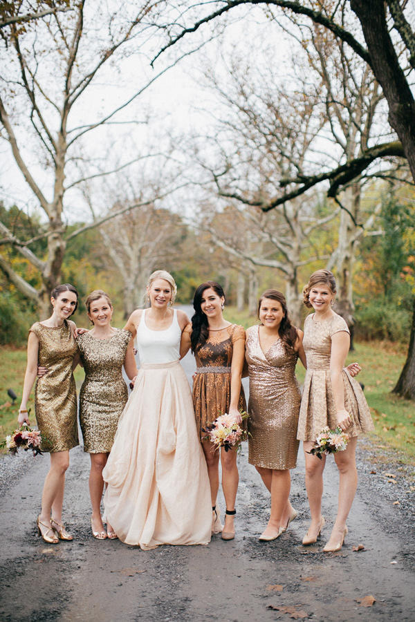 copper trend bridal party