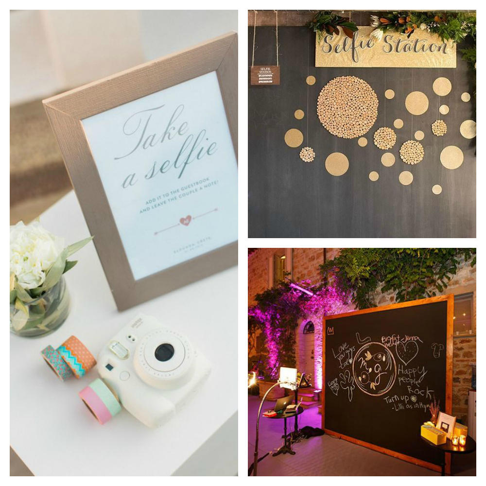 wedding details selfie station ideas