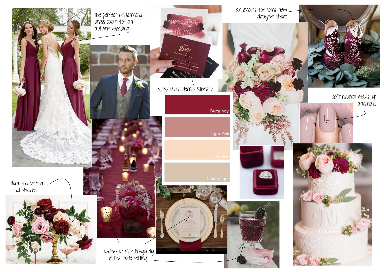 Autumnal weddings mood board styling ideas