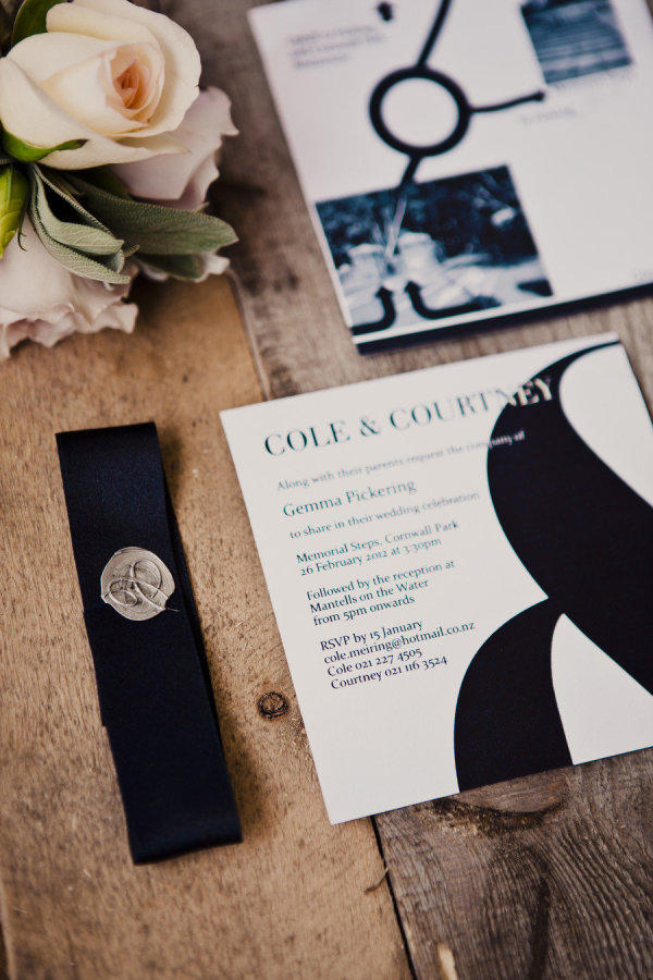monochrome wedding stationery