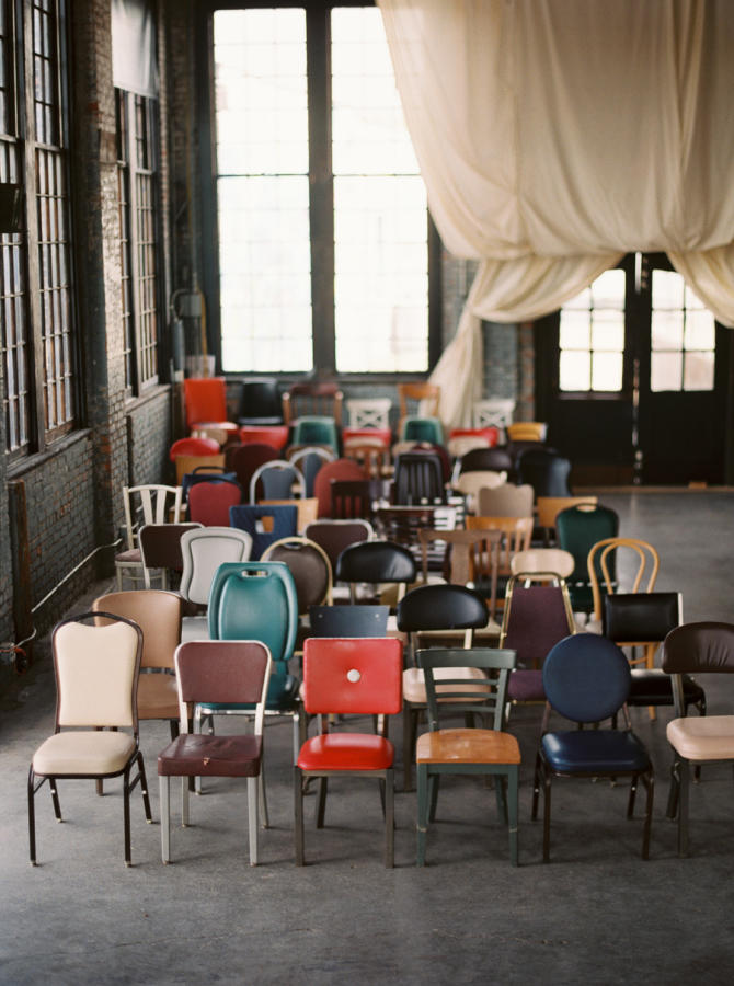 retro urban wedding chairs