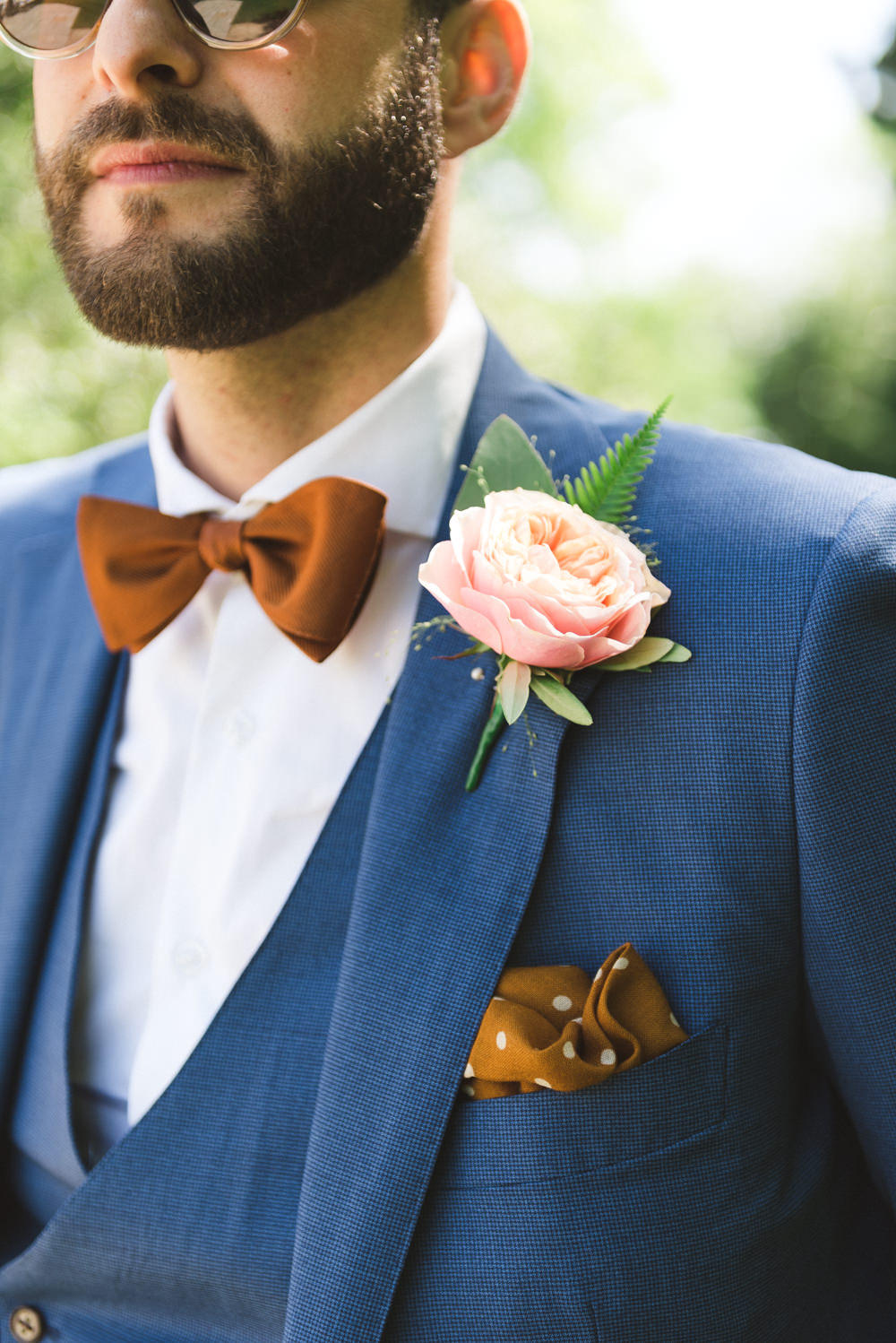 Colour pop groom trends blue tan