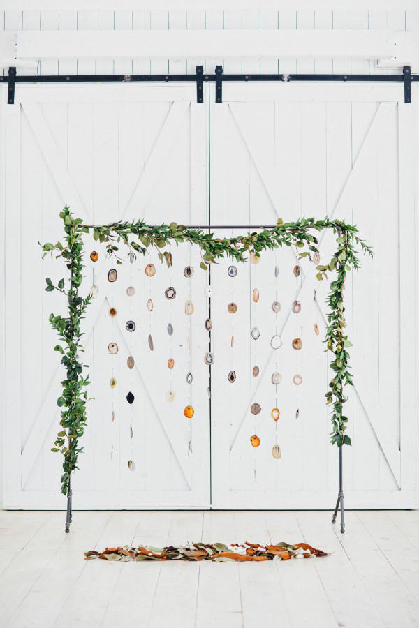frame based greenery wedding hanging installation