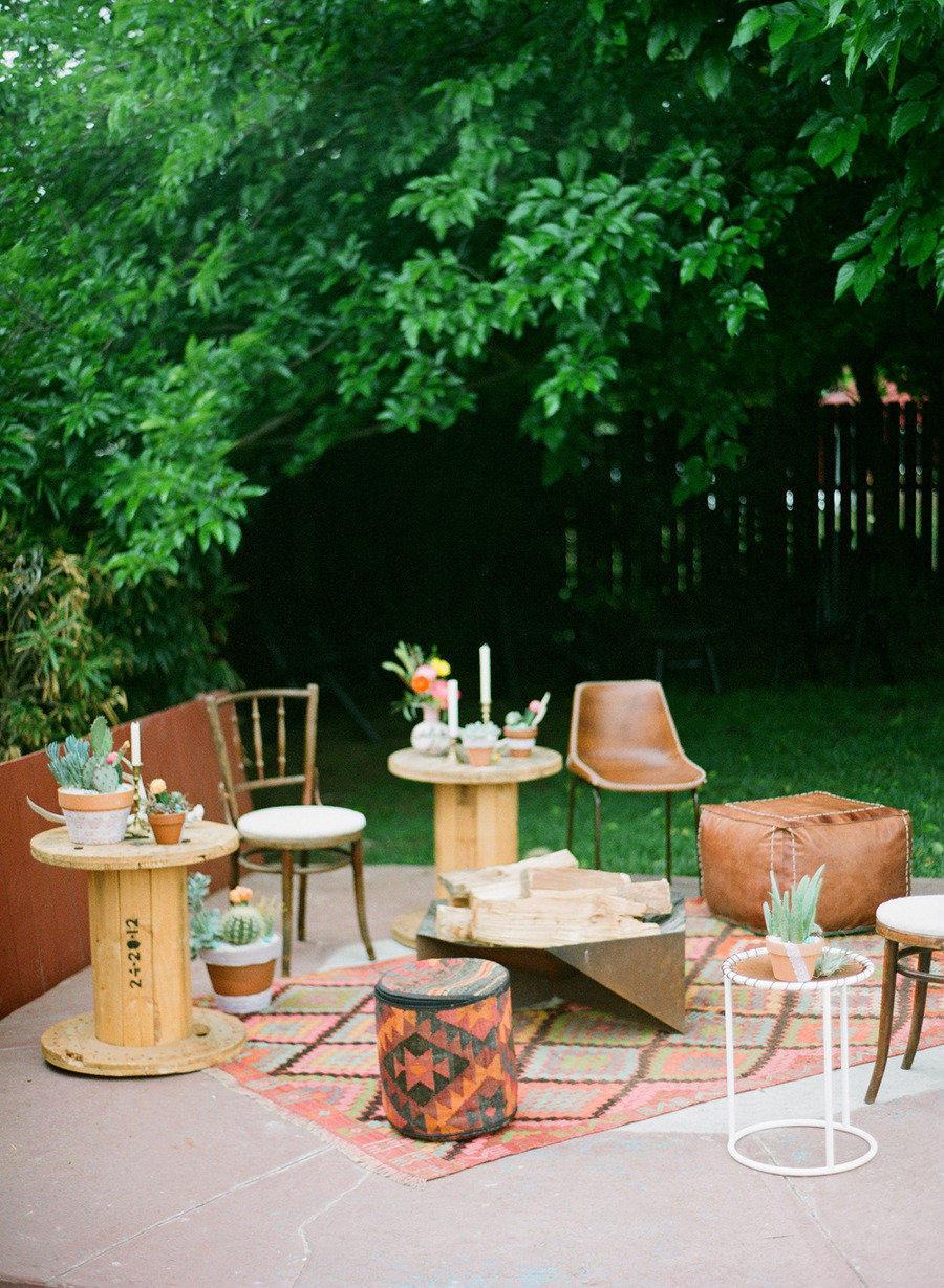 Rustic Vintage Al Freco Wedding Lounge Area