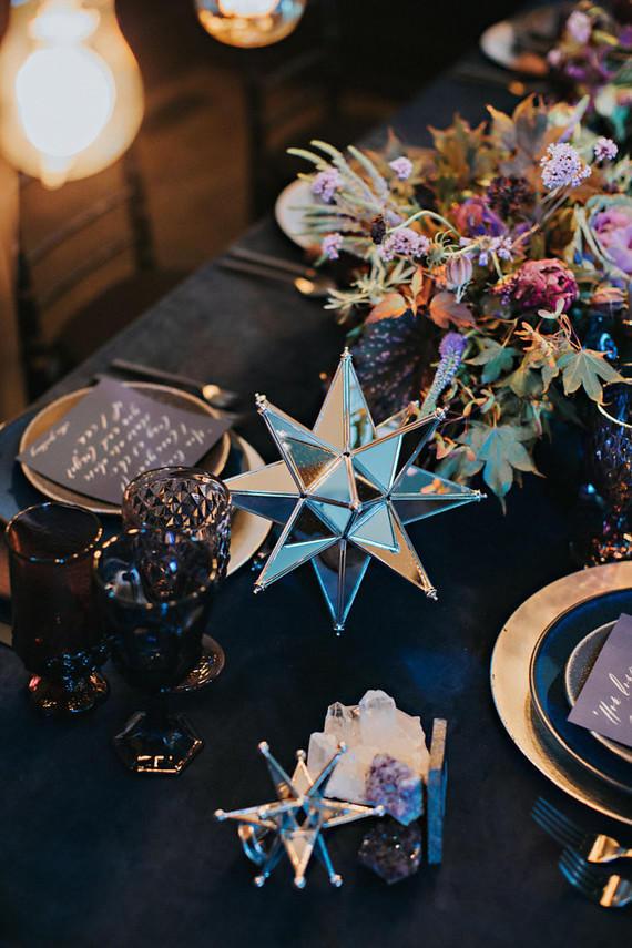 celestial wedding ideas table setting