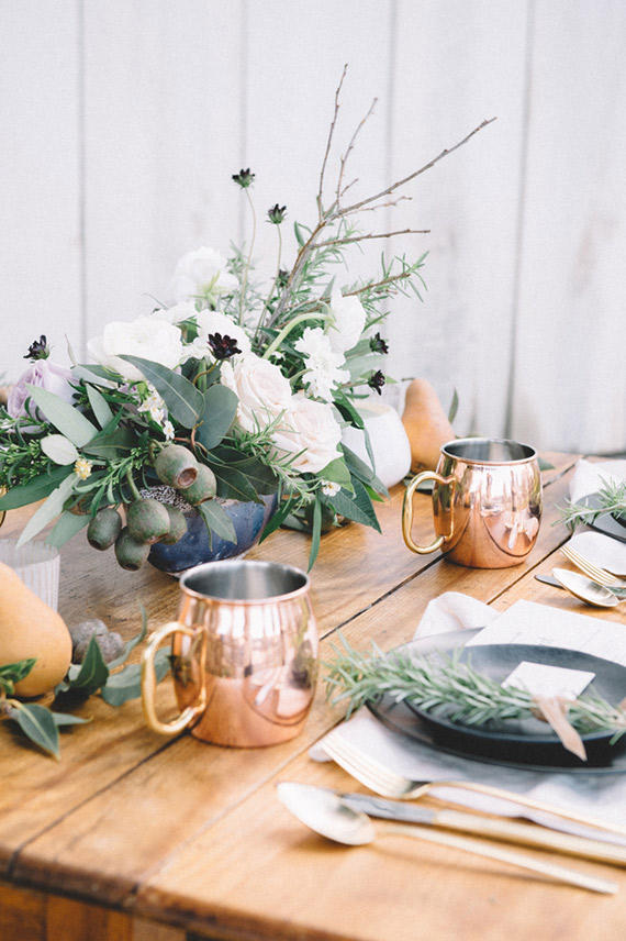 copper trend wedding styling