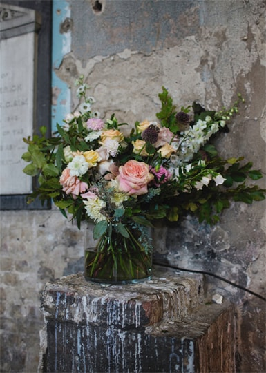 Carmela weddings our services floral display