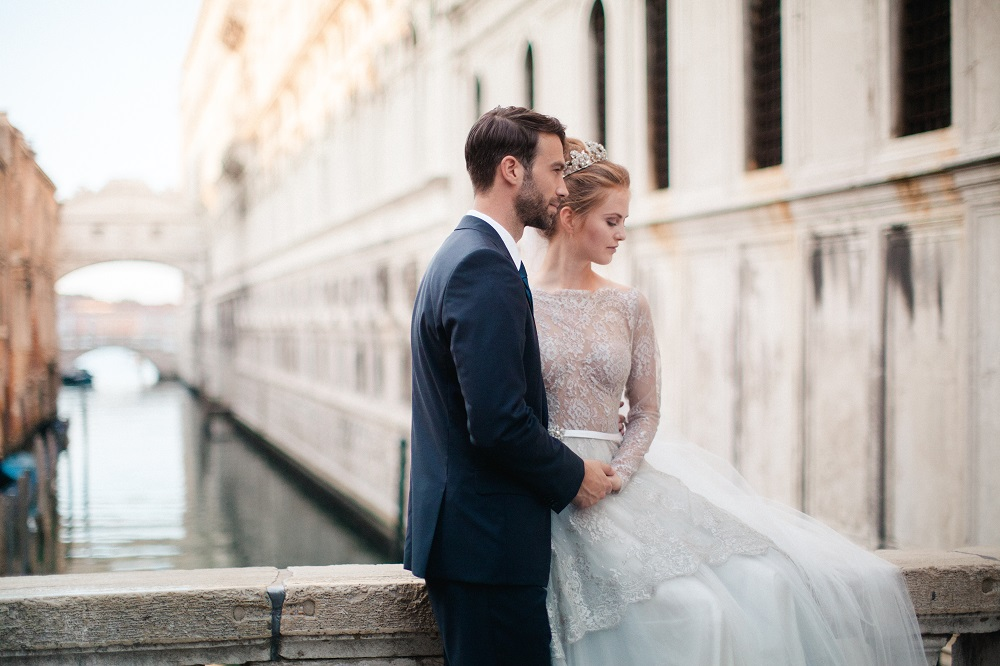 Destination wedding Europe Venice ceremony