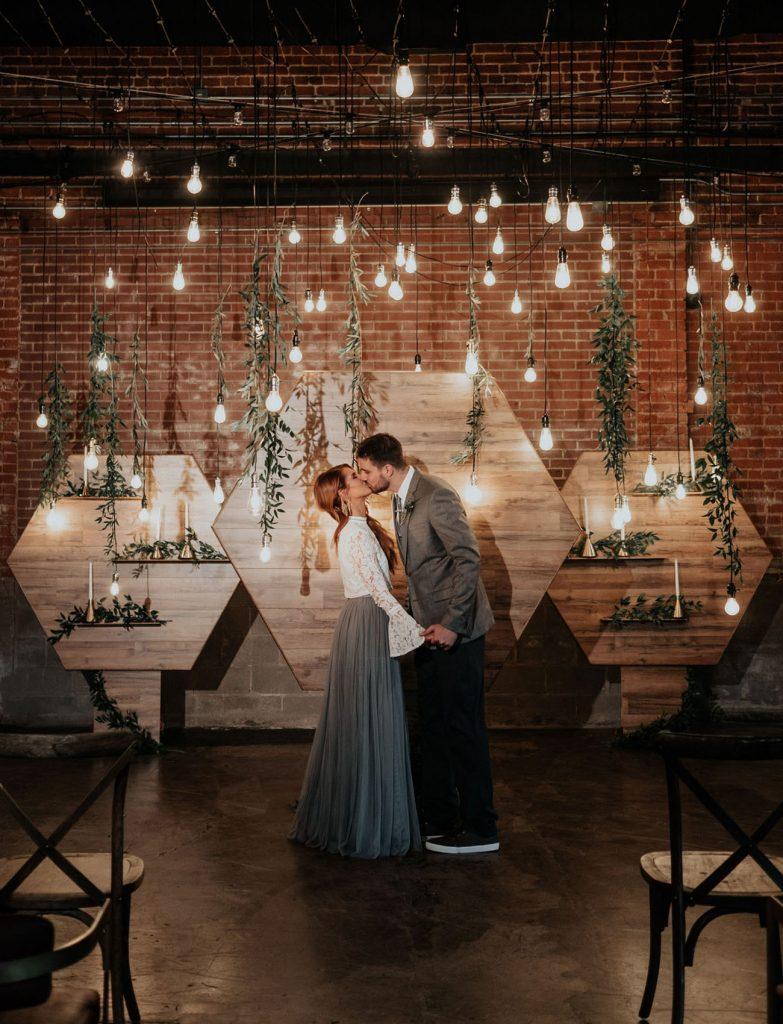 Statement wedding, lighting, decor, edison bulbs