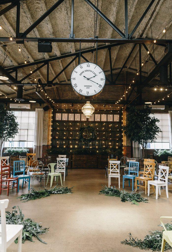 Statement wedding ceremony chairs