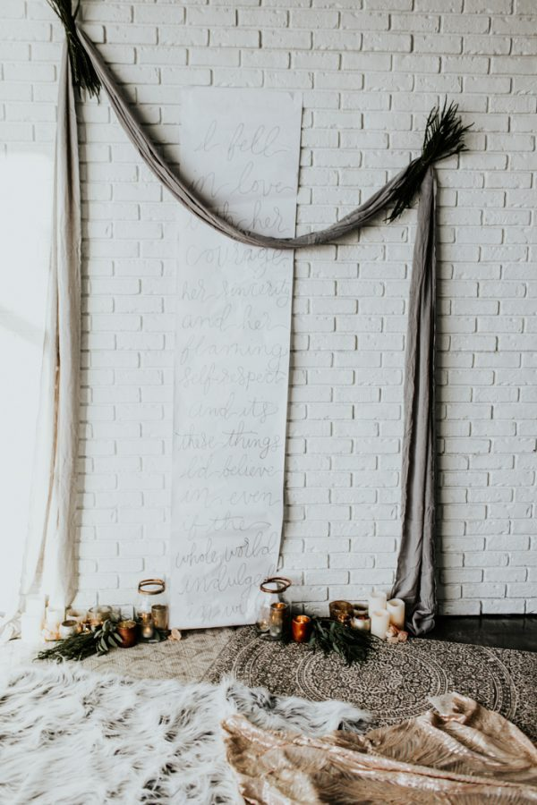 Statement wedding backdrop decor