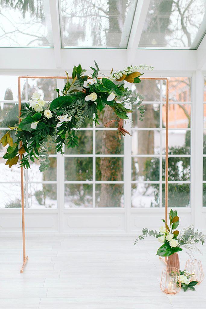 Statement wedding, copper, style